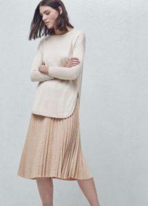 mango-falda-beige-plisada